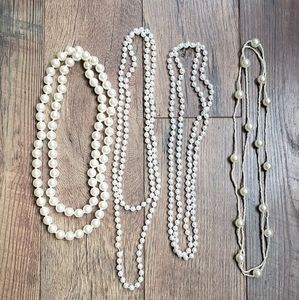 Pearl Costume jewelry 4 total in lot